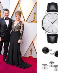 Andy Serkis wearing Montblanc . 90th Academy Awards