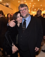 Guillermo del Toro wearing Giorgio Armani, Montblanc . 90th Academy Awards