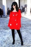 Laura Comolli at Vivetta fashion show (Photo by Giuseppe Spena)