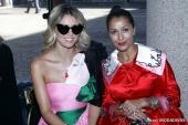 Elena Barolo and Syria at Vivetta fashion show (Photo by Giuseppe Spena)