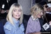 Natasha Stefanenko and Barbara Snellenburg at Vivetta fashion show (Photo by Giuseppe Spena)