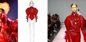 Al Joanne World Tour Lady Gaga indossa un outfit rosso fuoco di DROMe