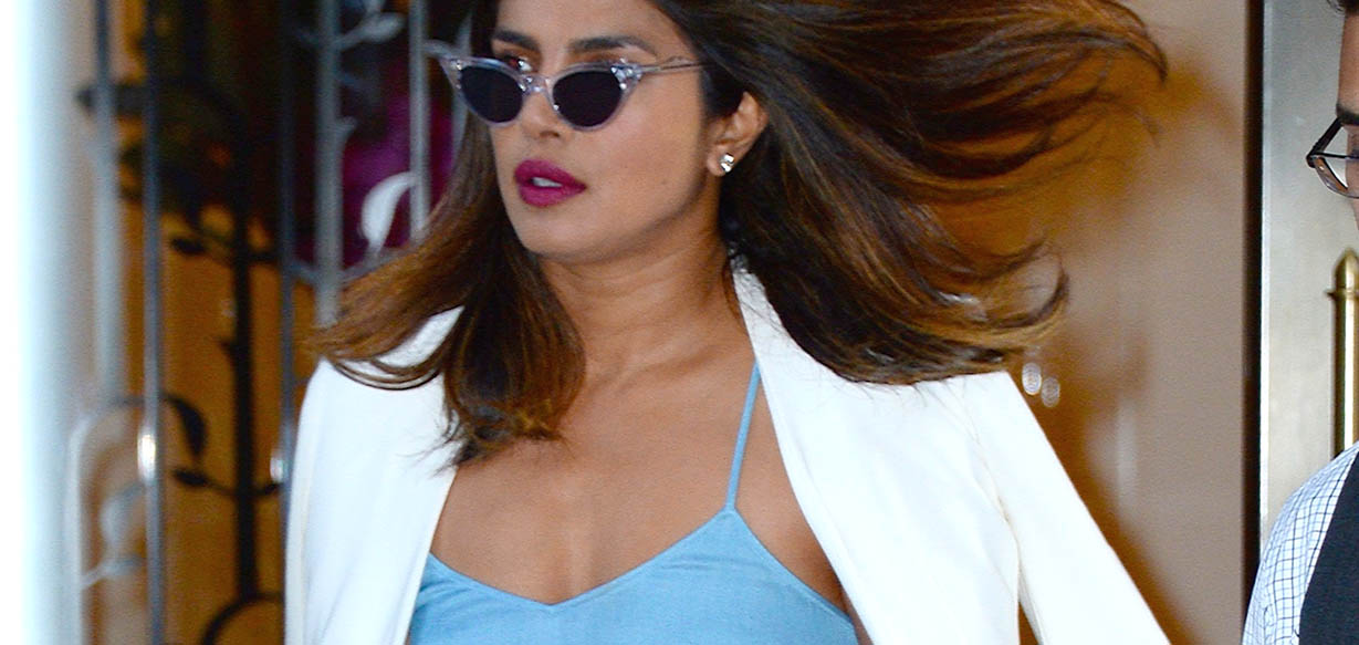 Priyanka Chopra carrying Bottega Veneta SS18 City Knot (Robert Kamau)
