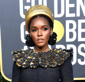 Golden Globes: Janelle Monáe wearing Chanel (photo Frazer Harrison; )