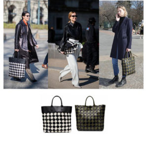 Anna Ewers, Caroline Issa, Pernille Teisbaek carrying the Bottega Veneta Maxi Cabat