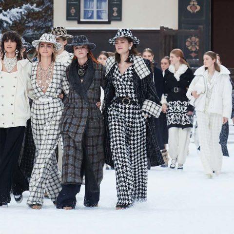Cara Delevingne . Chanel Fall Winter 2019/20