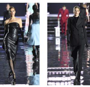 Irina Shayk & Doutzen Kroes in Ermanno Scervino at the LuisaViaRoma fashion show (photo Estrop)
