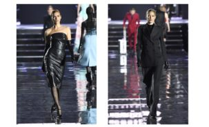 Irina Shayk & Doutzen Kroes in Ermanno Scervino at the LuisaViaRoma fashion show (photo Estrop)