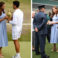 The Duchess of Cambridge Kate Middleton wears Aldo Nicholes, at the Wimbledon award ceremony