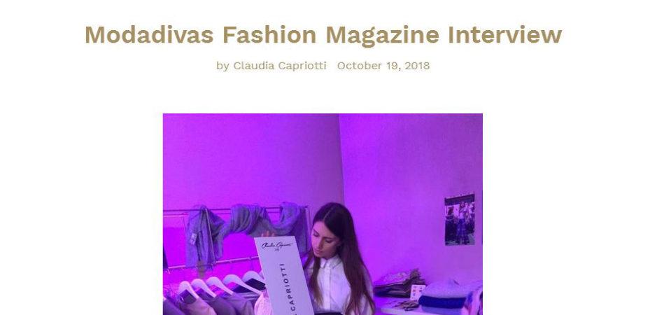 Clauda Capriotti press review 2018