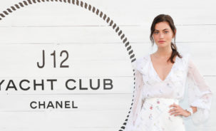 Phoebe Tonkin . Chanel Atmosphere Launch Hamptons (Carl Timpone/BFA.com)