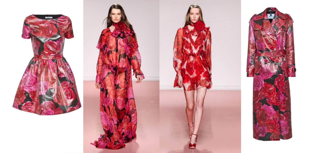 "Anna Molinari""Rose maxy"" Blumarine Fall Winter 2029 collection"