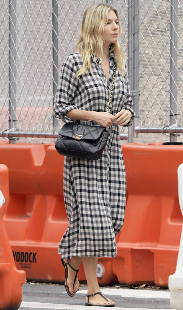 The American actress Sienna Miller wore Chanel(photo by SplashNews.com)
