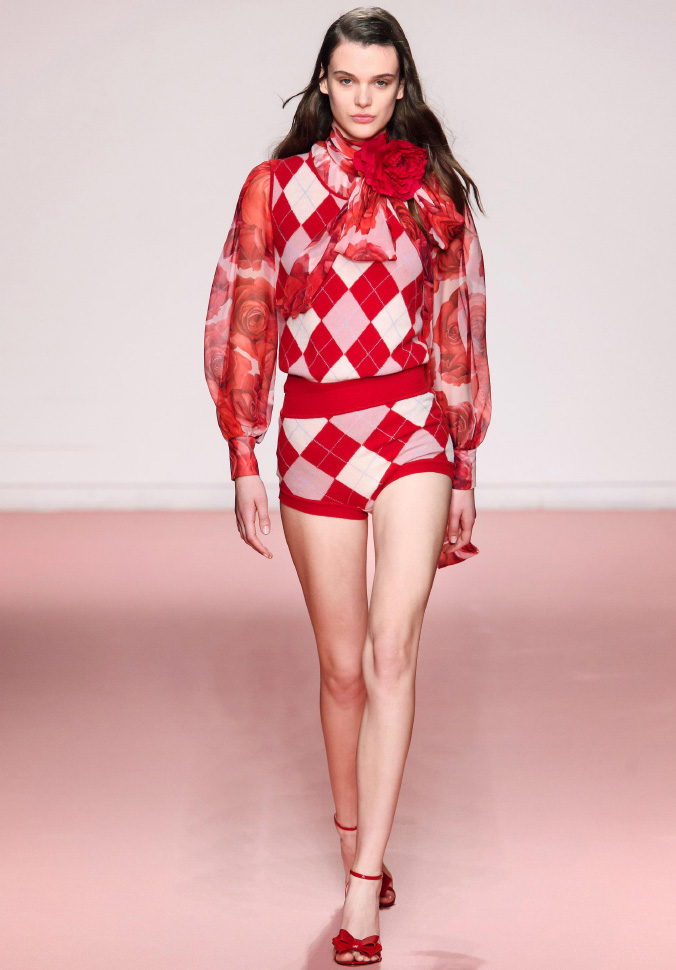 Argyle Obsession Blumarine Fall Winter 2019 collection