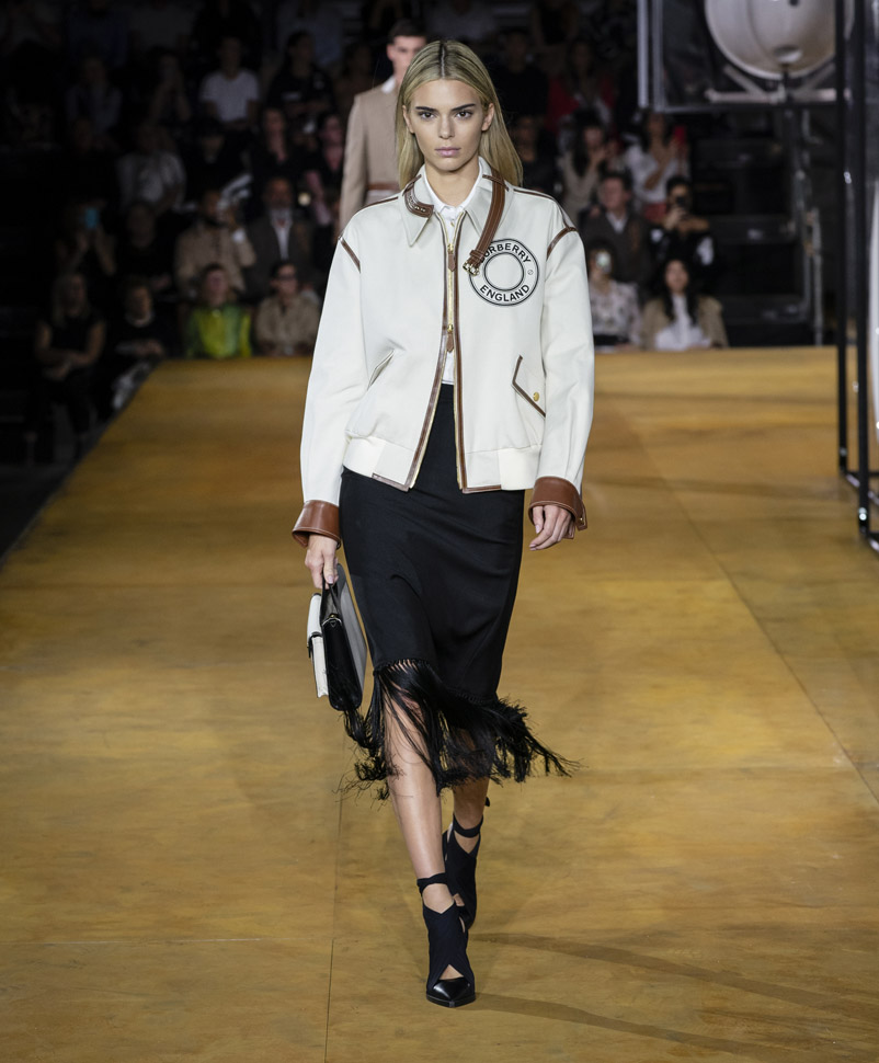 Kendall Jenner . Burberry Spring Summer 2020 Collection
