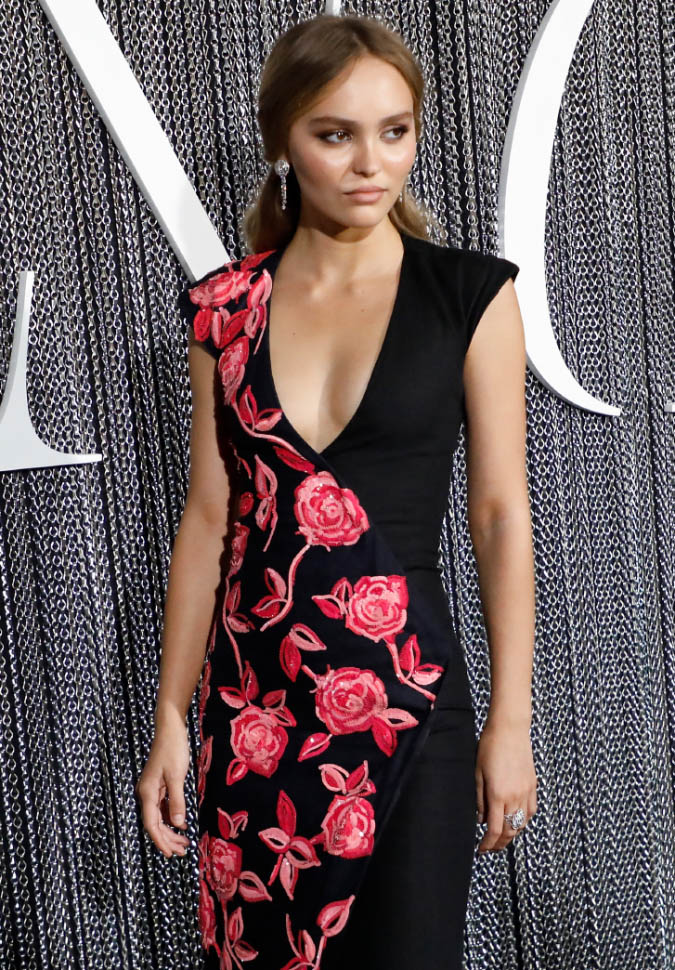 "Lily-Rose Depp wore Chanel at The King ""Premiere"" in New York (photo by Taylor Hill)"
