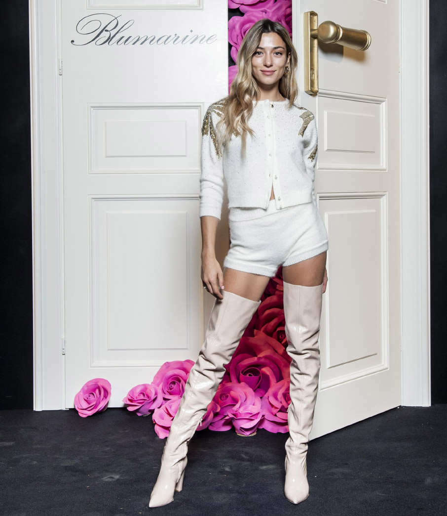 Soleil Stasi . Blumarine Party Ribbon Fall Winter 2019/20 collection