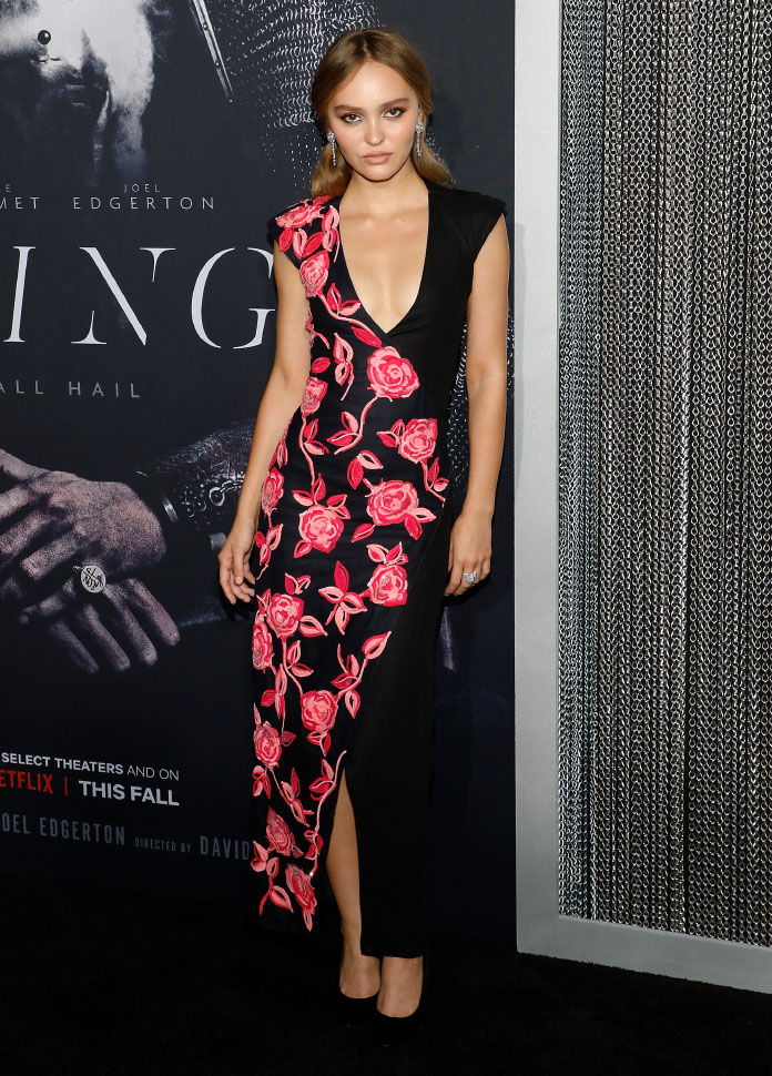 """Lily-Rose Depp wore Chanel at The King """"Premiere"""" in New York (photo by Taylor Hill)"""