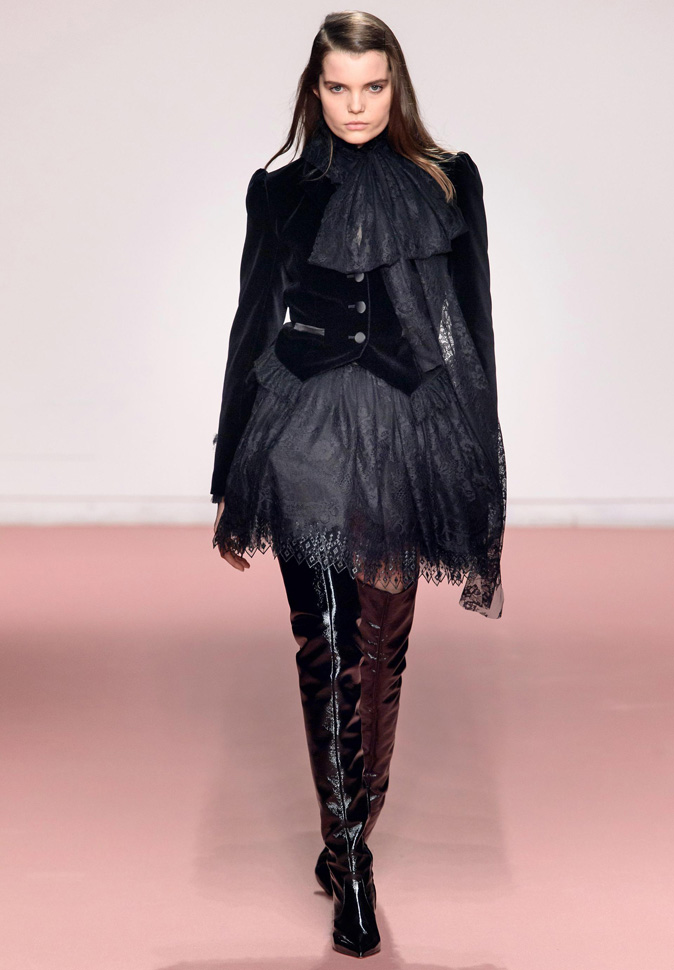 Blumarine Halloween Black Lace and Velvet Fall Winter 2019 collection