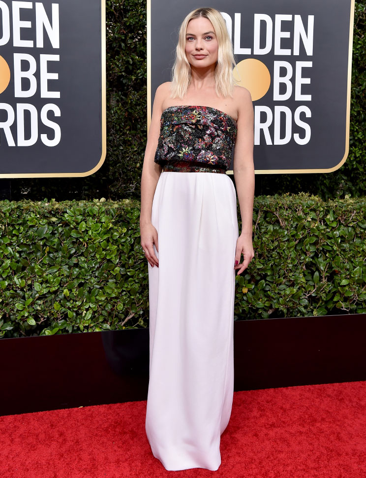 Margot Robbie wore Chanel at 77th Golden Globe Awards . photo © by Axelle/Bauer-Griffin