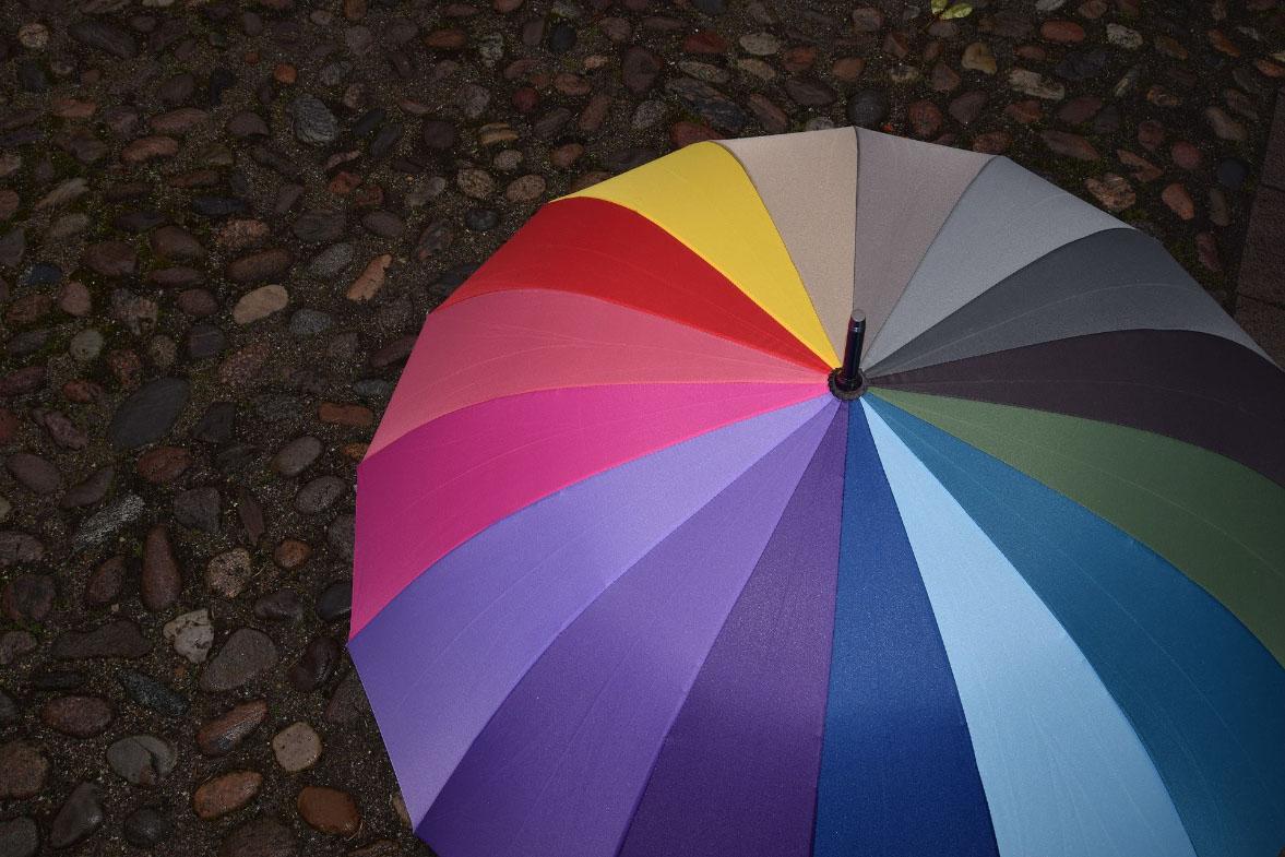 Ombrello grande multicolore