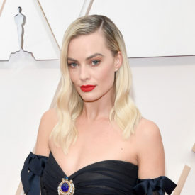 Margot Robbie wore Chanel at the 92nd Academy Awards in Los Angeles (photo by Kevin Mazur)