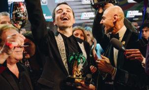"""Diodato """"in Dolce&Gabbana""""vincitore del Festival di Sanremo 2020 con «Fai Rumore - Moët & Chandon serata Finale 70° Festival di Sanremo"""