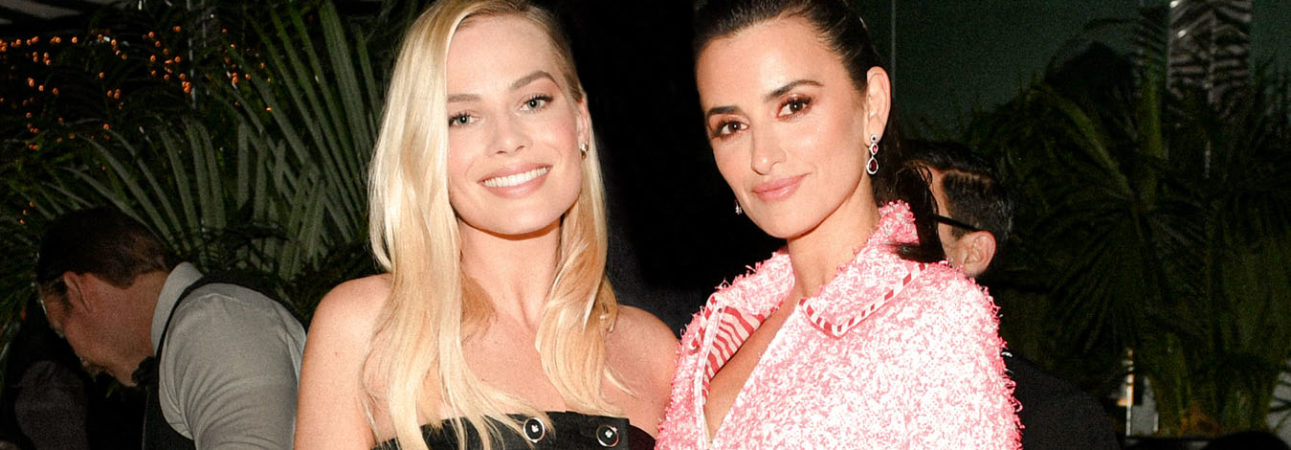 Margot Robbie and Penélope Cruz in Chanel and Charles Finch 12th Annual Pre-Oscar Awards Dinner