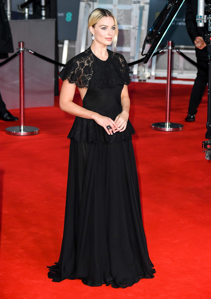 Margot Robbie, Chanel ambassador . The 73rd British Academy Film Awards (photo by Stephane Cardinale - Corbis)