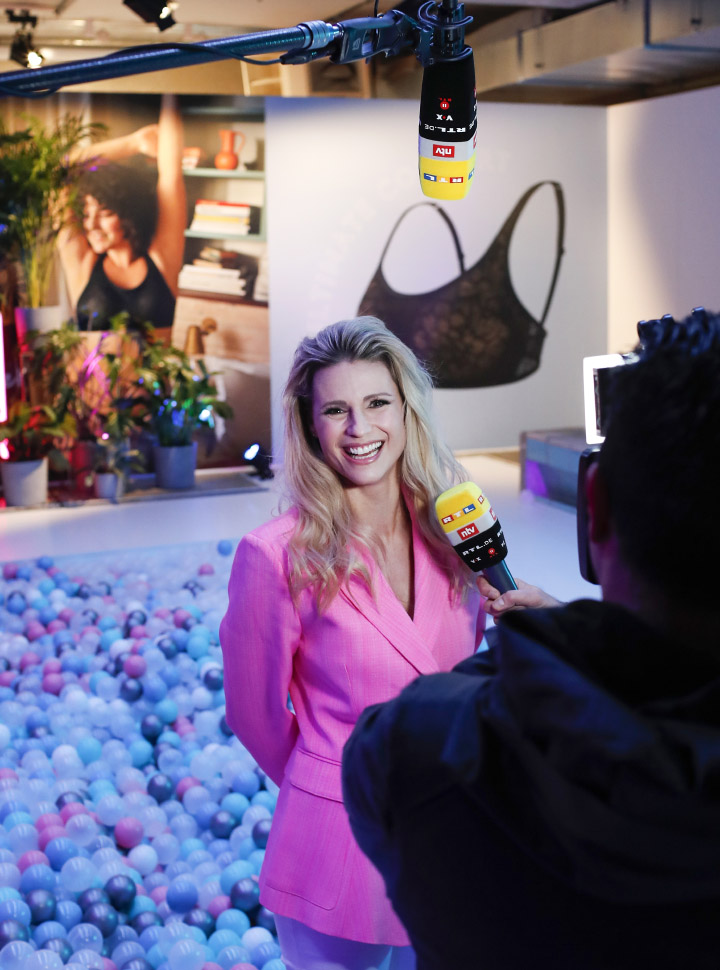 "Michelle Hunziker . Day 1: Triumph ""Design For Life: Fit Smart"" Launch Event In Berlin"