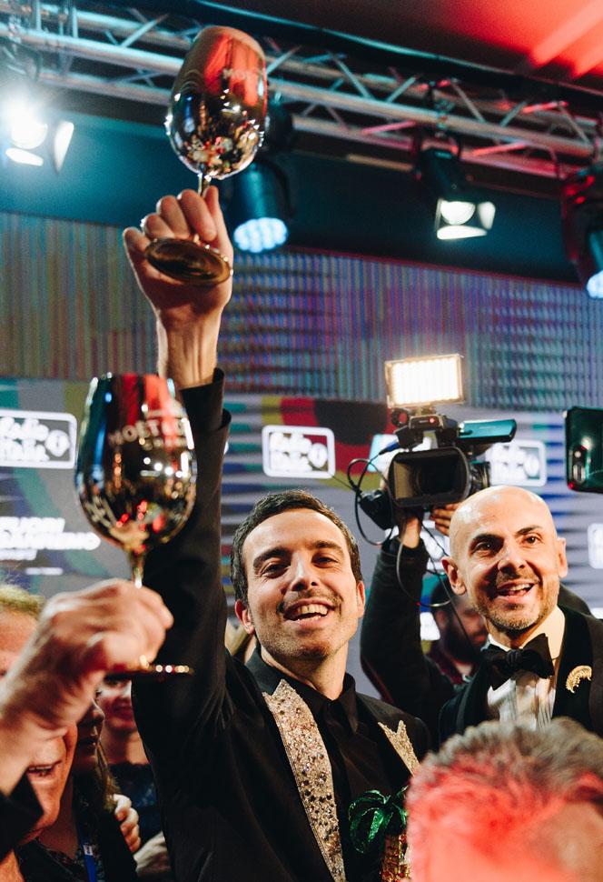 Diodato vincitore del Festival di Sanremo 2020 con «Fai Rumore - Moët & Chandon serata Finale 70° Festival di Sanremo