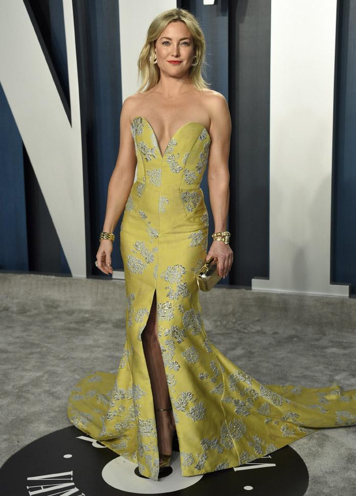 Kate Hudson in Vivienne Westwood Couture . Vanity Fair Oscar Party 2020 (AP/LaPresse Evan Agostini)