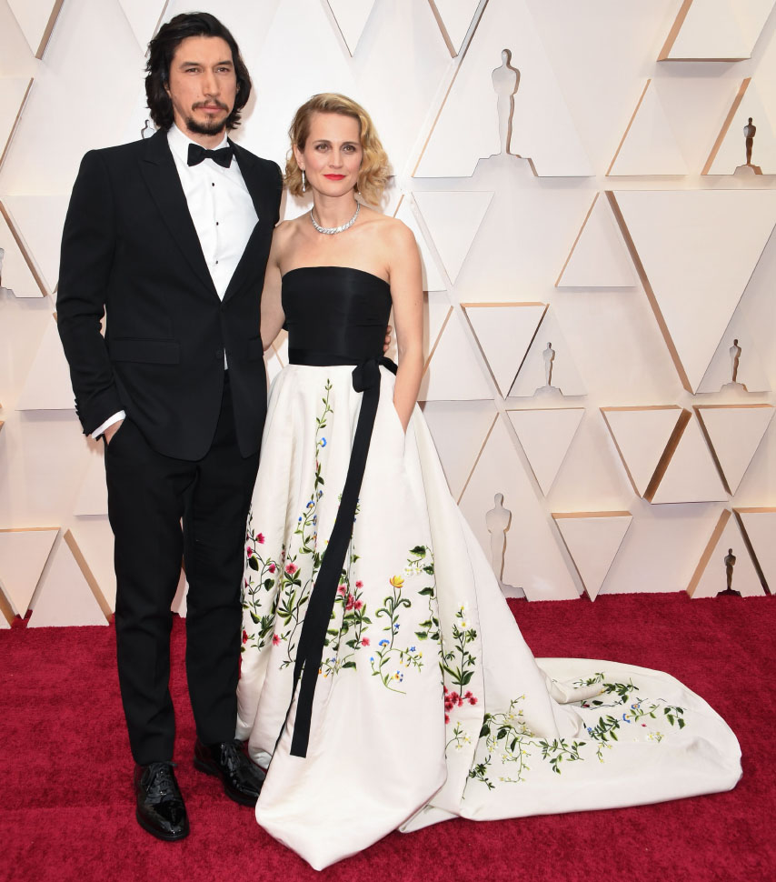 Adam Driver wearing Burberry to the 92nd Annual Academy Awards in Los Angeles (photo by Robyn Beck)