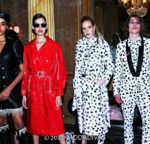 Guests model at M T S Z Fall Winter 2020 collection (photo by Giuseppe Spena)
