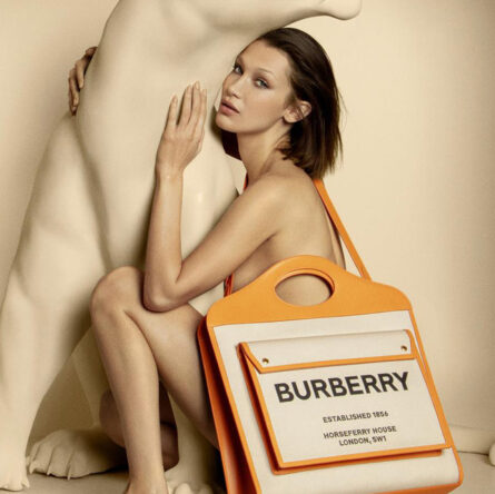 Burberry introduces the Pocket Bag campaign starring Bella Hadid photo © Burberry Inez and Vinoodh