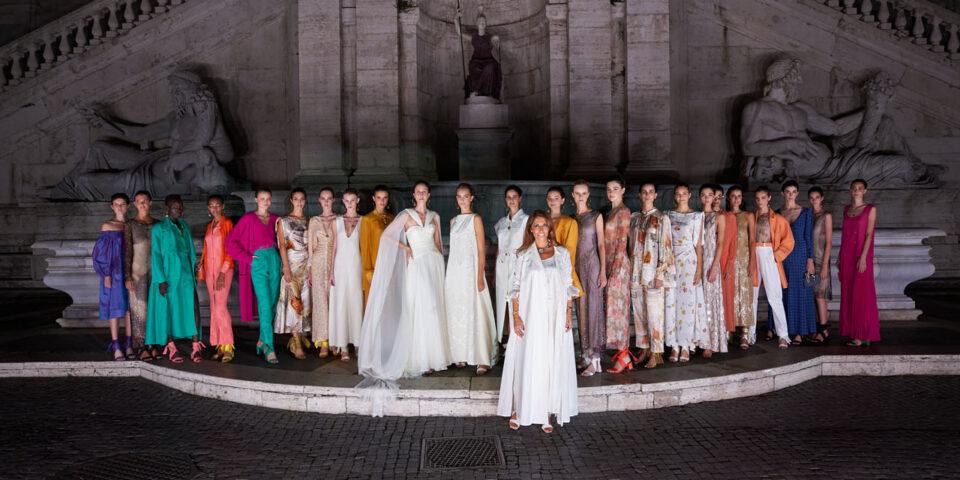 Anna Cleveland - Laura Biagiotti Roman Reinassance Spring Summer 2021 collection