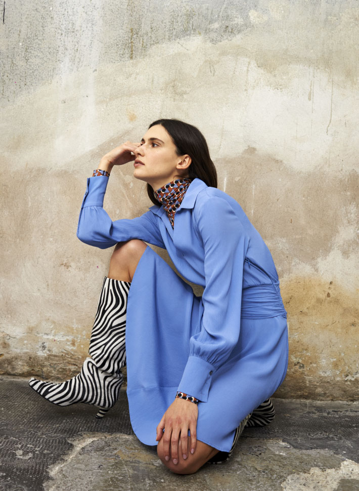 Beatrice .b: A touch of light blue . Collezione Autunno Inverno 2020/21