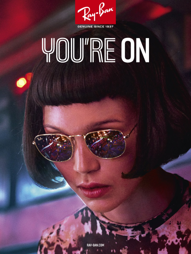 Ray-Ban, You're On - New Adv Campaign
