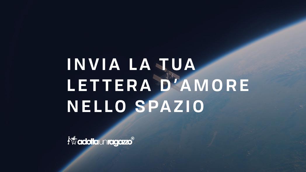 AdottaUnRagazzo invia 1000 lettere d'amore nello spazio