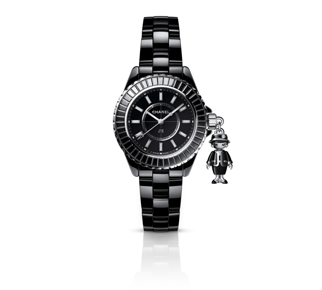 Chanel MasemoiselleJ12 Acte II Limited edition of 555 pieces. Black highly