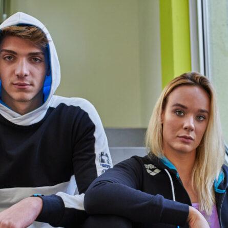 Margherita Panziera, campionessa Europea nei 200m dorso, e Alessandro Miressi, campione Europeo nei 100m stile libero