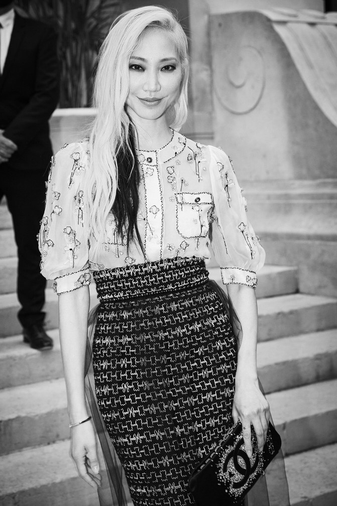 Soo Joo Park wore Chanel at Chanel Haute Couture Fall Winter 2021/22