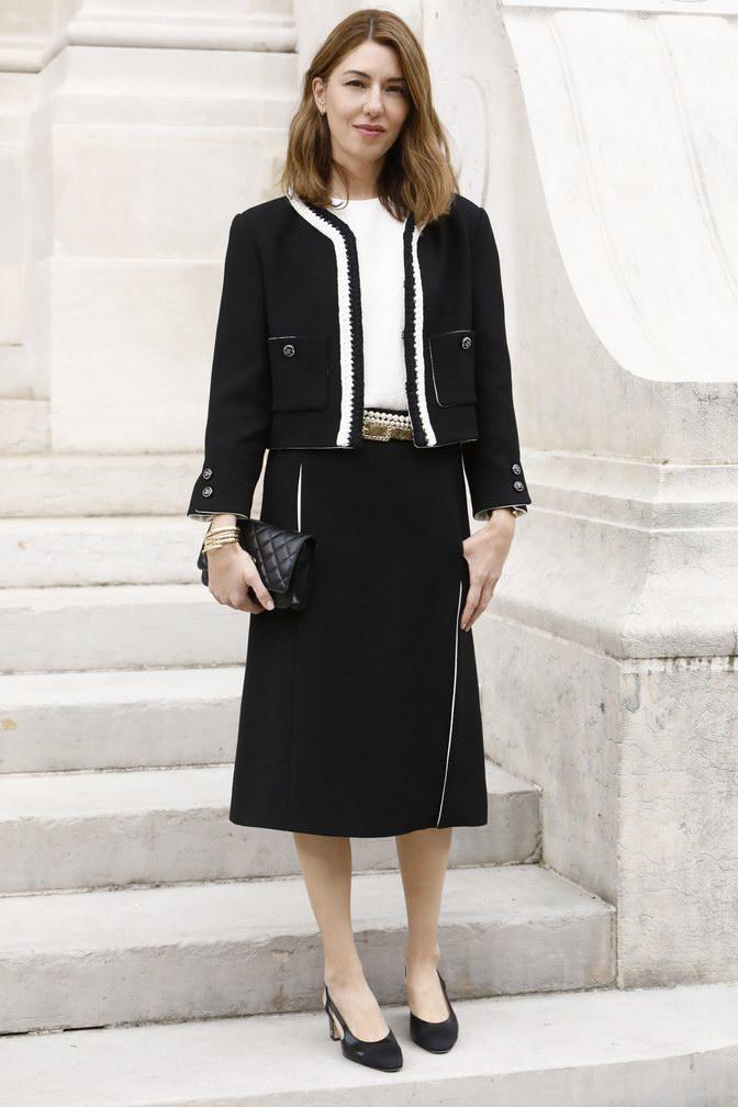 Sofia Coppola wore Chanel at Chanel Haute Couture Fall Winter 2021/22