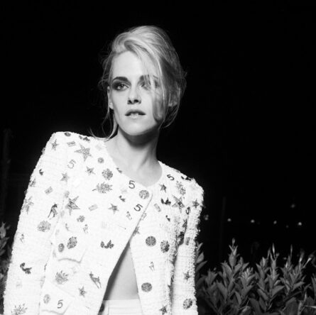 Kristen Stewart wore Chanel at the Chanel dinner during the 78th Venice International Film Festival . photo by Virgile Guinard