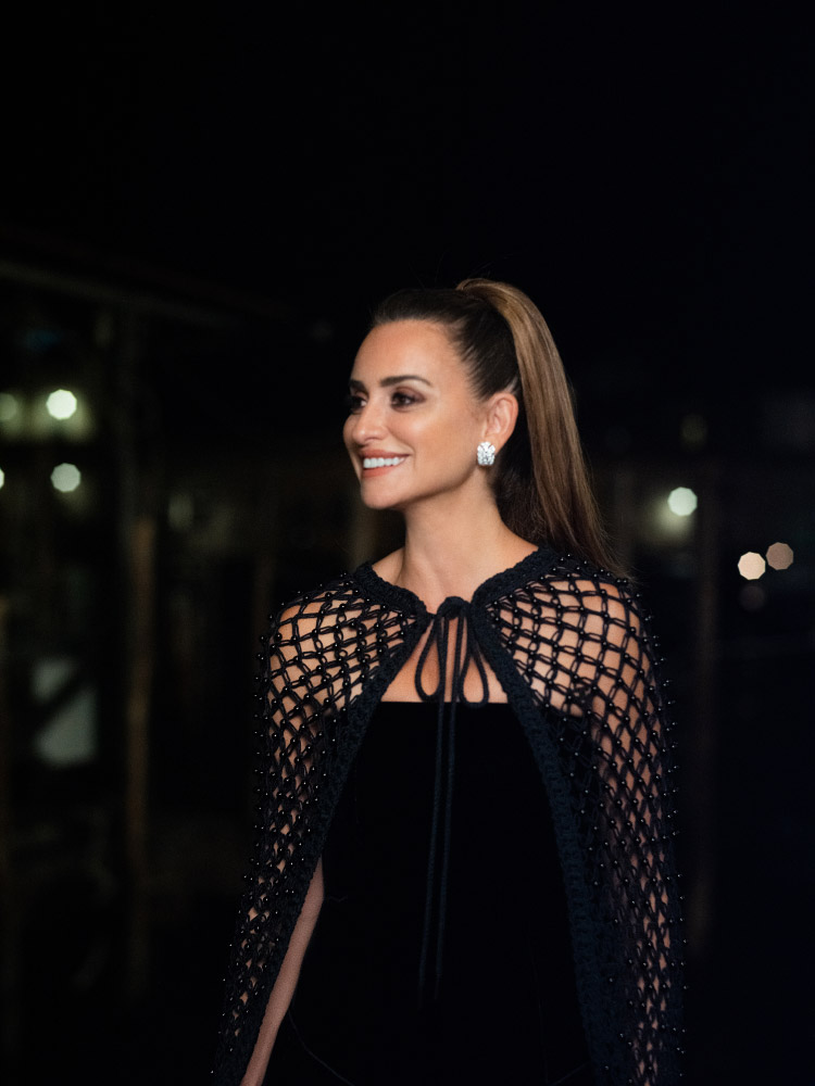 Penelope Cruz wore Chanel at the Chanel dinner during the 78th Venice International Film Festival . photo by Virgile Guinard