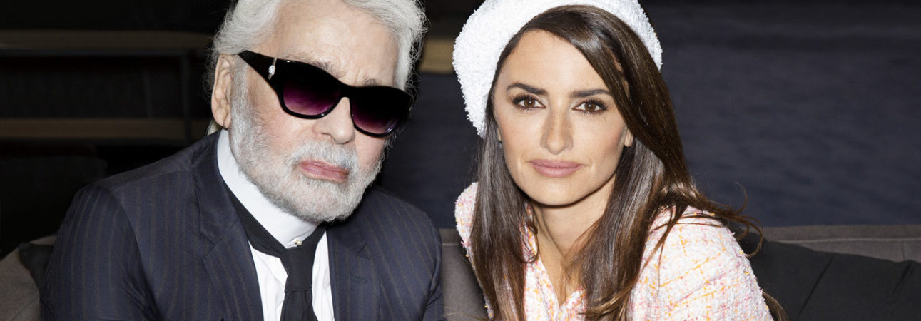 Karl Lagerfeld and Penelope Cruz Fall Winter 2018-19 Chanel Haute Couture Collection