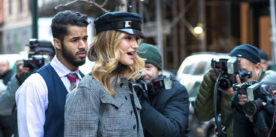 Rosie Huntinghton-Whiteley chose Burberry for her latest looks