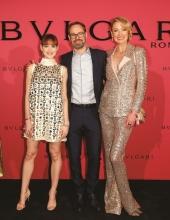 Emilia Schuele, Bart de Boever and Lilly zu Sayn Wittgenstein . Bulgari Hosts #Starsinbulgari Night In Berlin