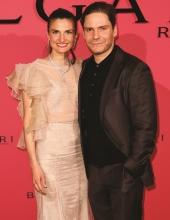 Daniel Bruehl and his wife Felicitas Rombold . Bulgari Hosts #Starsinbulgari Night In Berlin