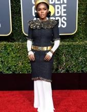 Golden Globes: Janelle Monáe wearing Chanel (photo Frazer Harrison; )